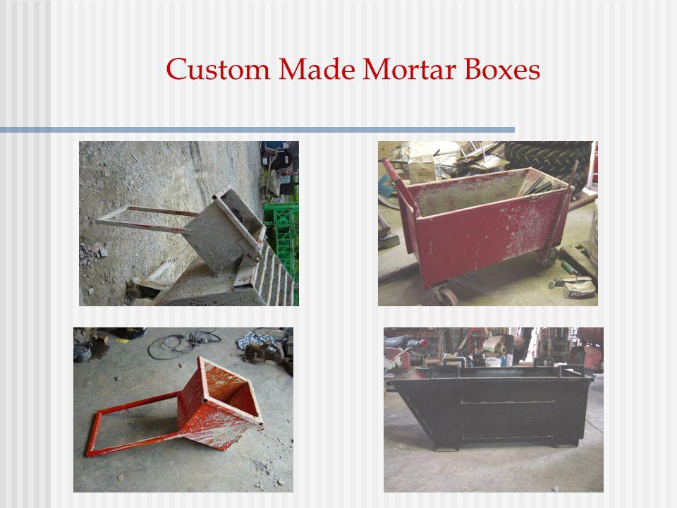 Custom Made Mortar Boxes