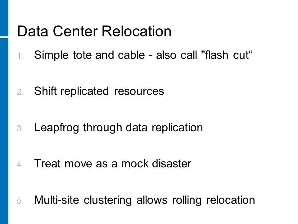 Data Center Relocation 1.