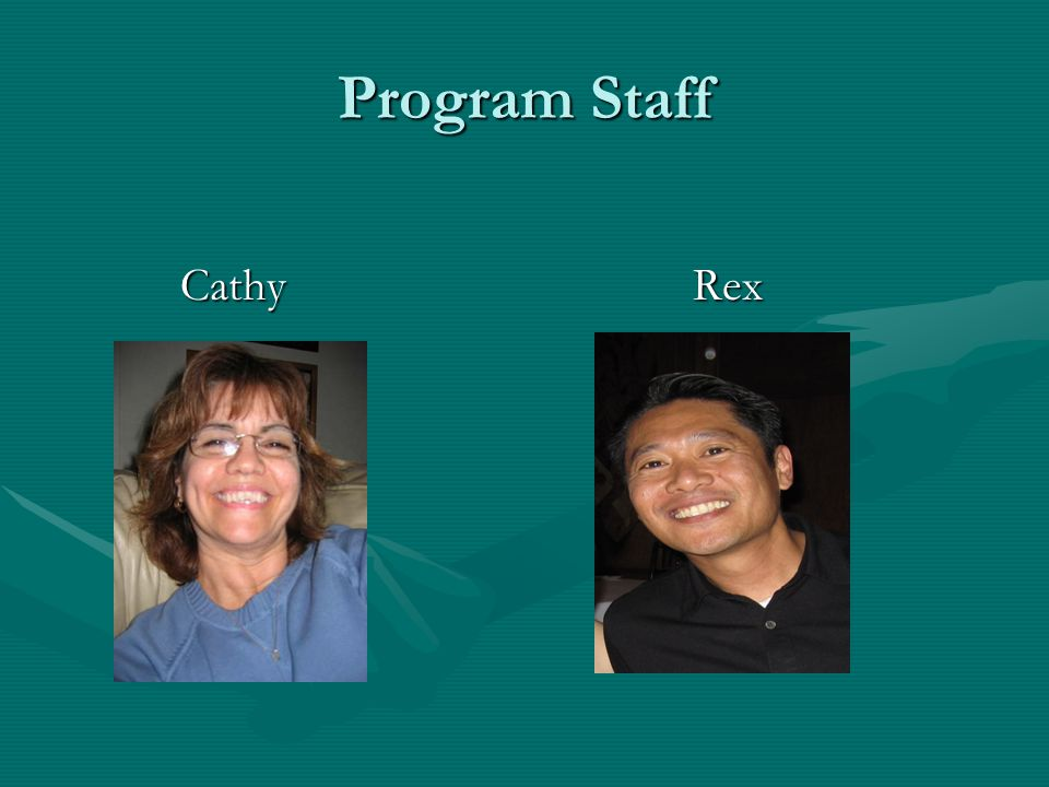 Program Staff CathyRex CathyRex
