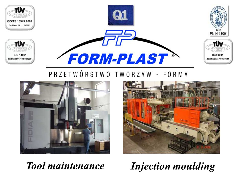Injection moulding Tool maintenance