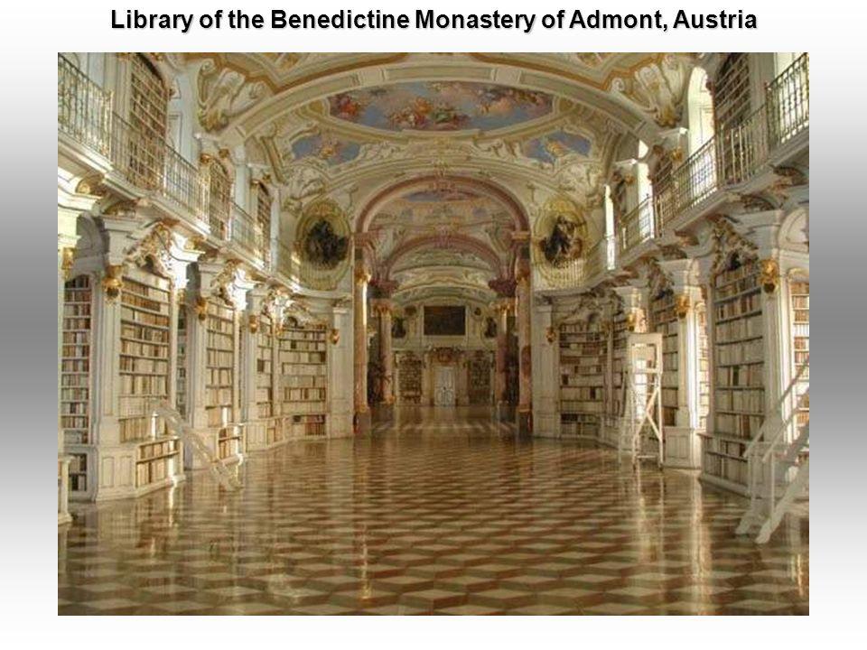 Kremsmuenster Abbey Library, Kremsmu ̈ nster, Austria.