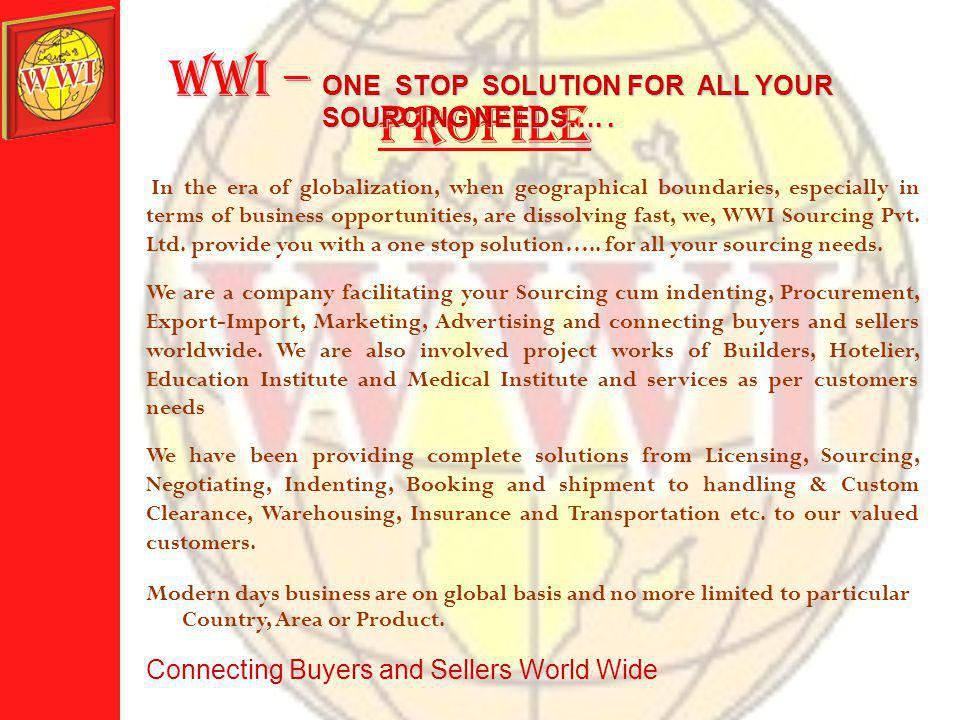 introduction to wwi S ourcing Pvt.Ltd.