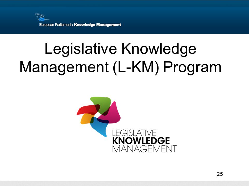 25 Legislative Knowledge Management (L-KM) Program