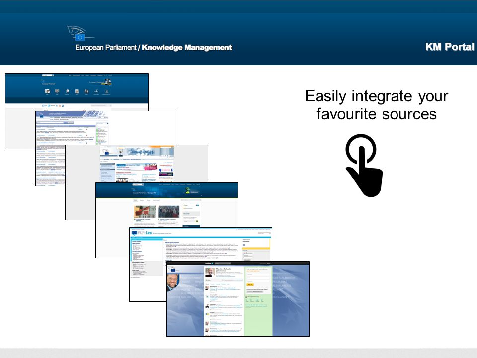 Easily integrate your favourite sources KM Portal