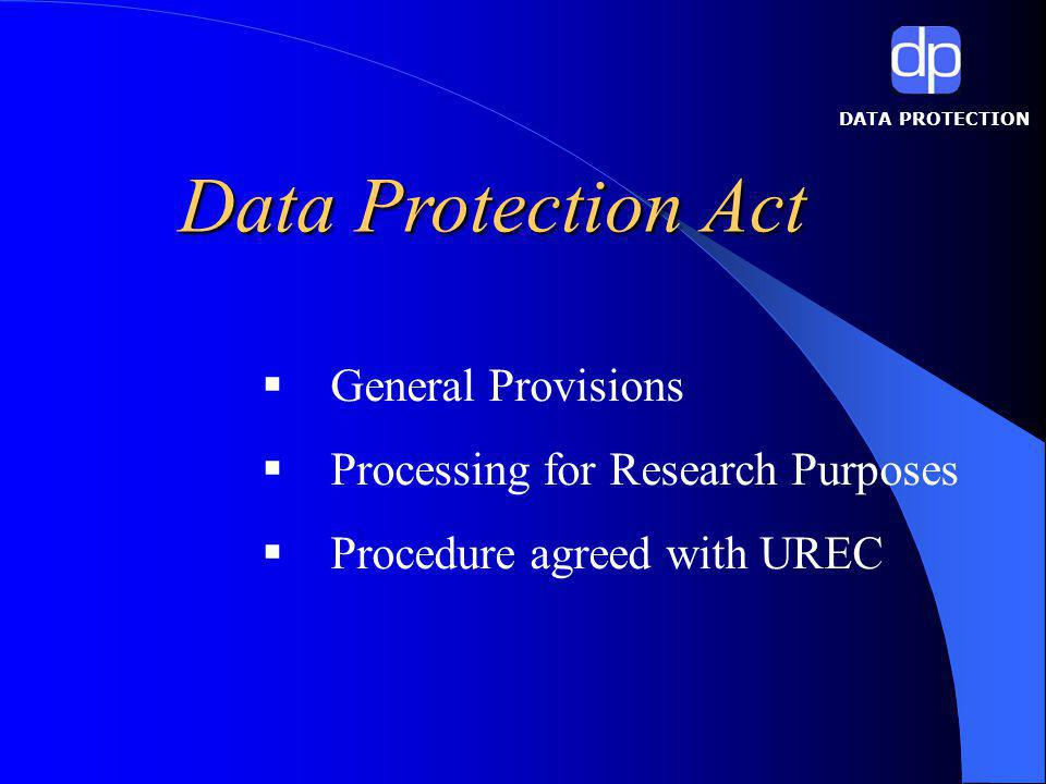 DATA PROTECTION Specific Data Protection matters in research include: Personal and Sensitive Data Identifiable VS Anonymous Data Consent – When do I need consent?.