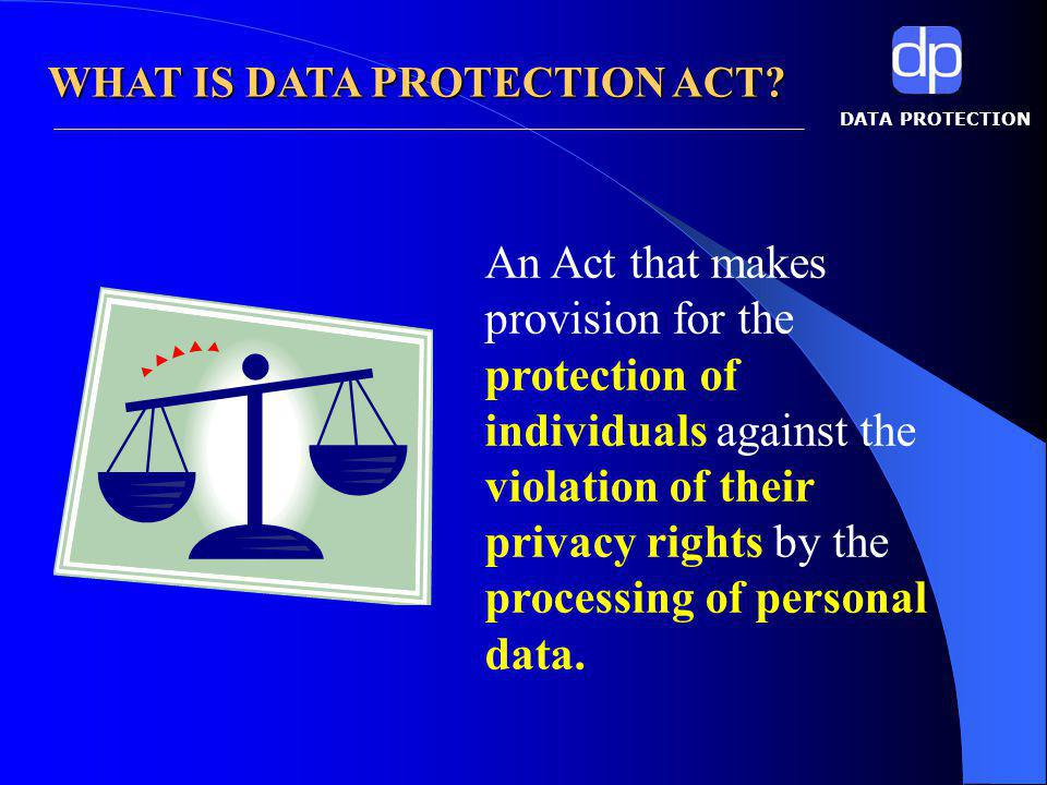 DATA PROTECTION Key Terms in Data Protection Data Protection
