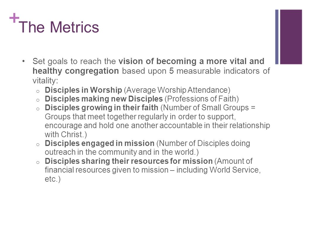 Timeline continued for UMCVitalCongregations.org Reaching Goals – This tab will be live in the fall and will provide processes and resources to help churches of all sizes reach their goals, including modules for reaching goals for Worship – Small Groups – Missions – Generous Giving.