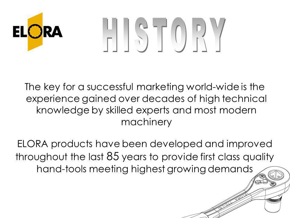 The key for a successful marketing world-wide is the experience gained over decades of high technical knowledge by skilled experts and most modern mac
