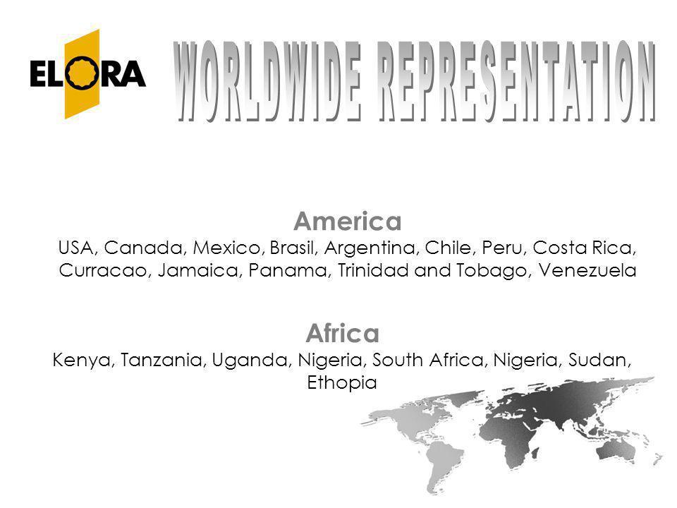 America USA, Canada, Mexico, Brasil, Argentina, Chile, Peru, Costa Rica, Curracao, Jamaica, Panama, Trinidad and Tobago, Venezuela Africa Kenya, Tanza