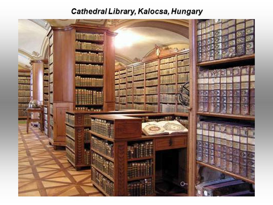 Strahov Theological Hall - Original Baroque Cabinets, Prague