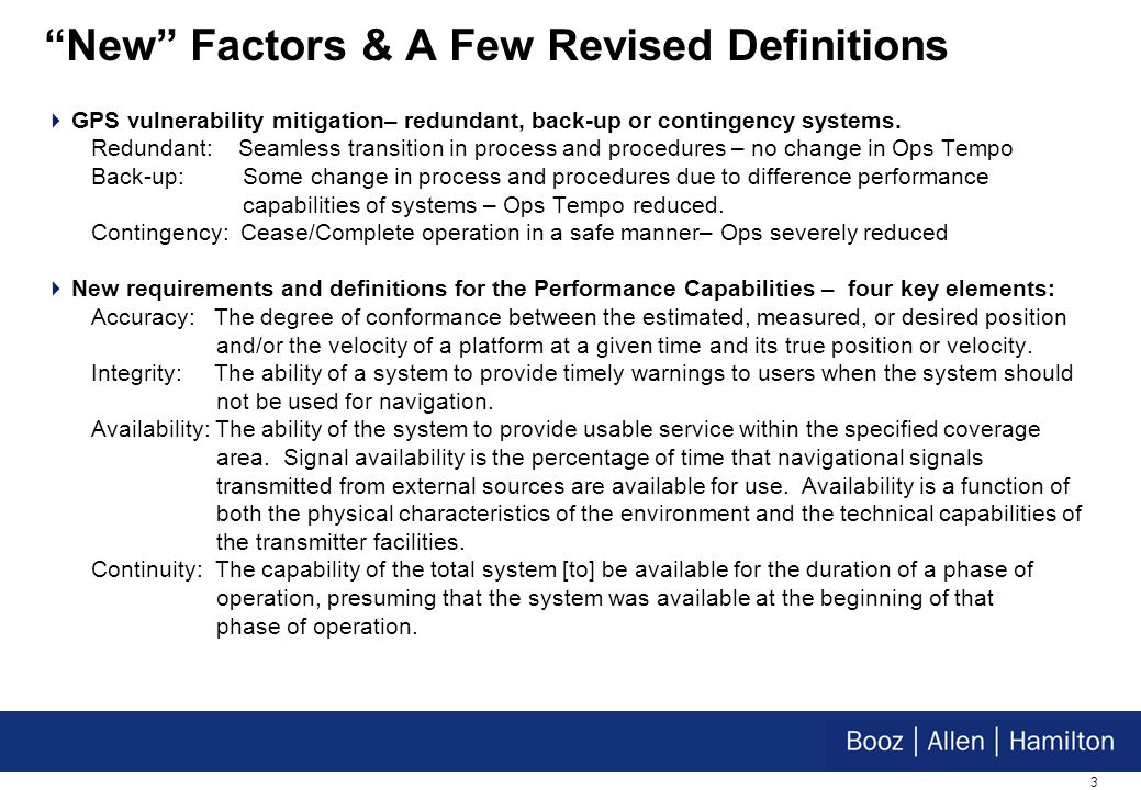 14 Operations Doctrine Expectations The basic response time for system repairs remain as previously identified or be improved.