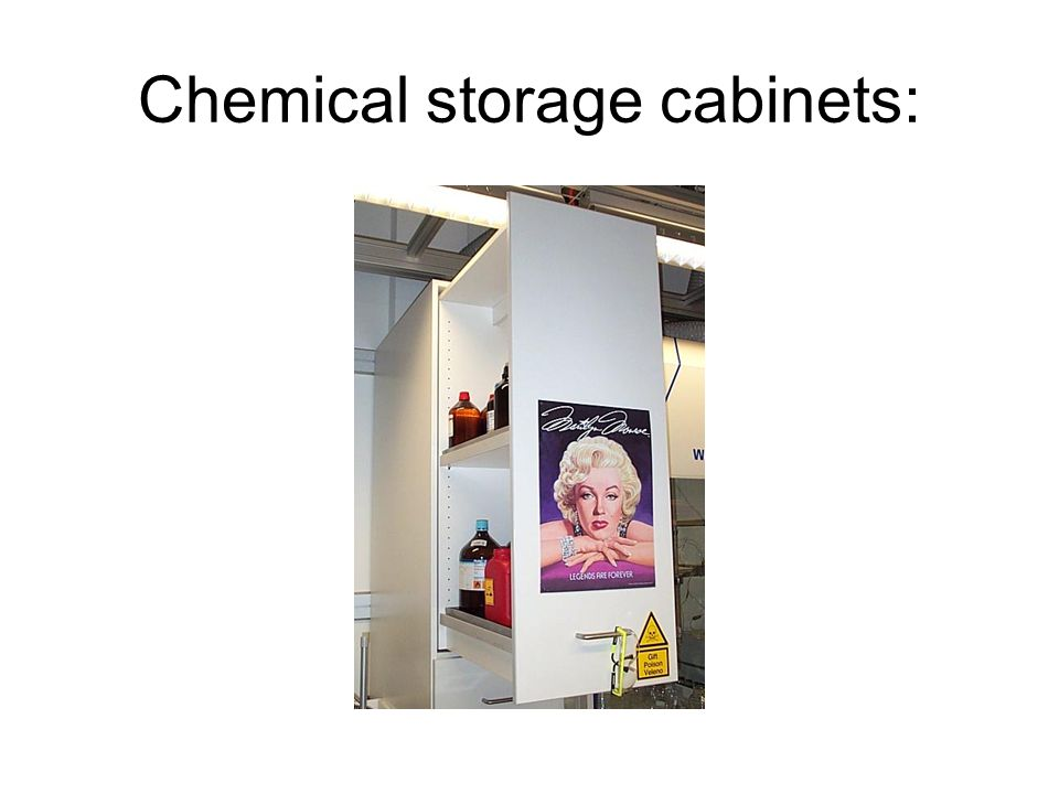 Chemical storage cabinets:
