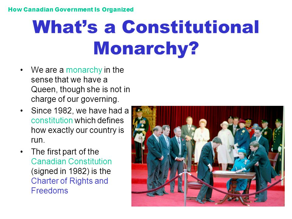 How Canadian Government Is Organized Whats a Parliamentary Democracy.