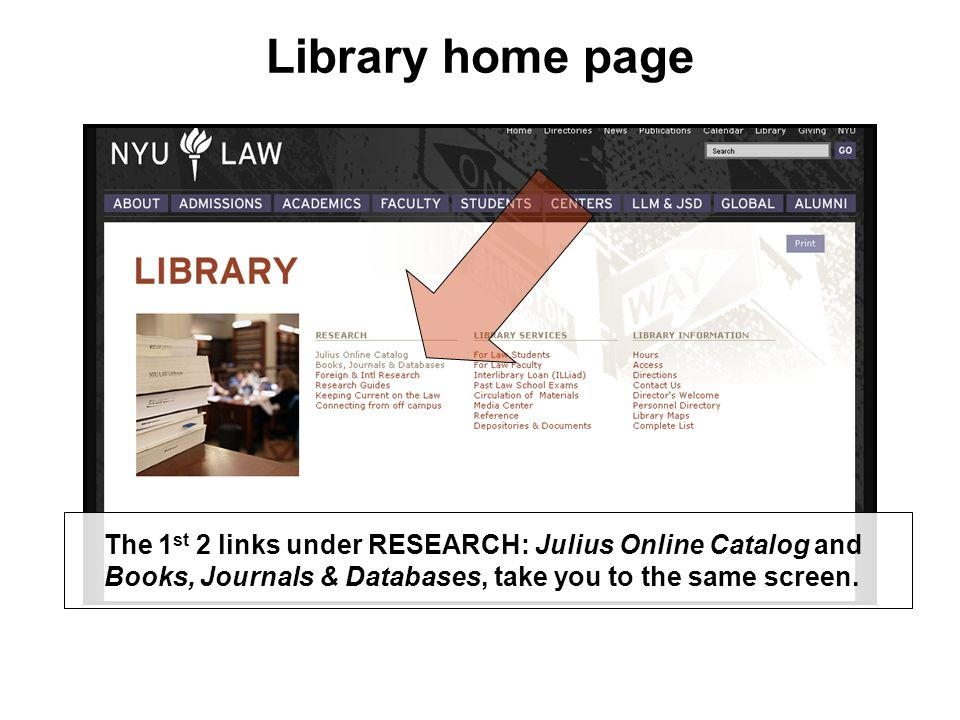 Passworded databases, scenario #2: ex.: Jutastat We log you on at a public terminal in the Main Reading Room.