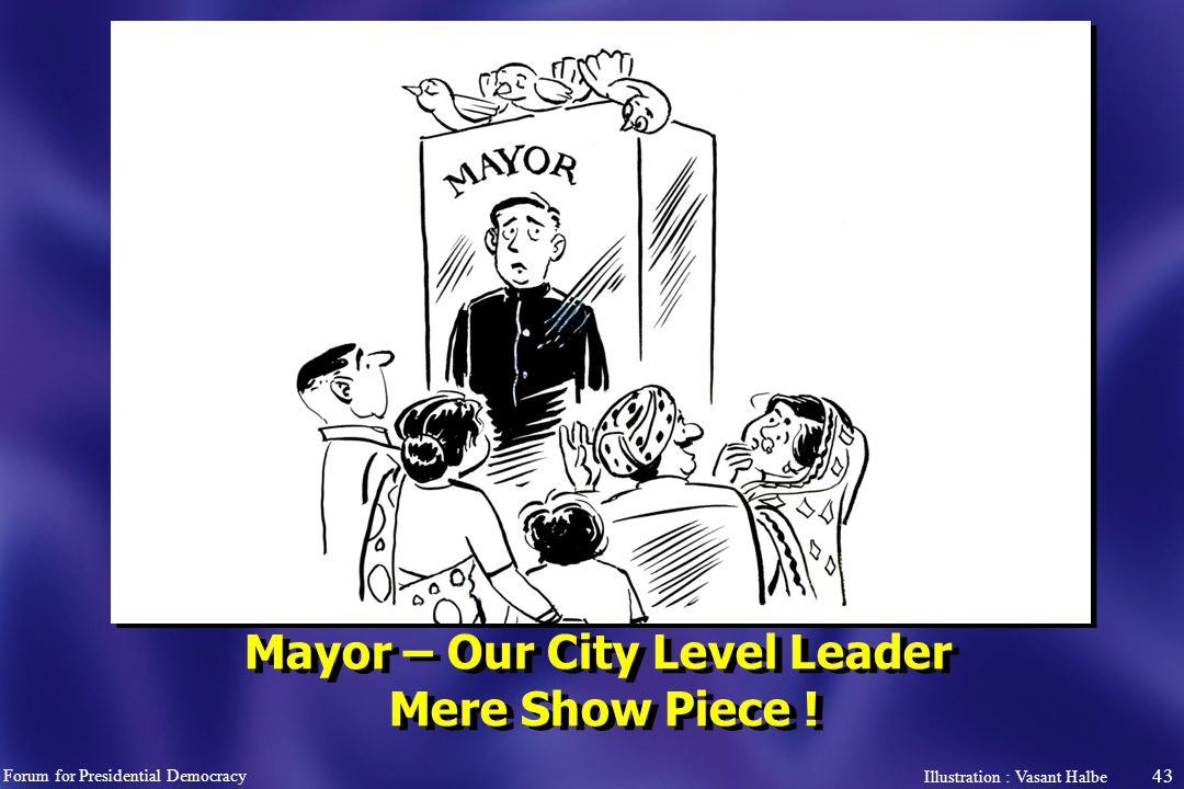 43 Mayor – Our City Level Leader Mere Show Piece .