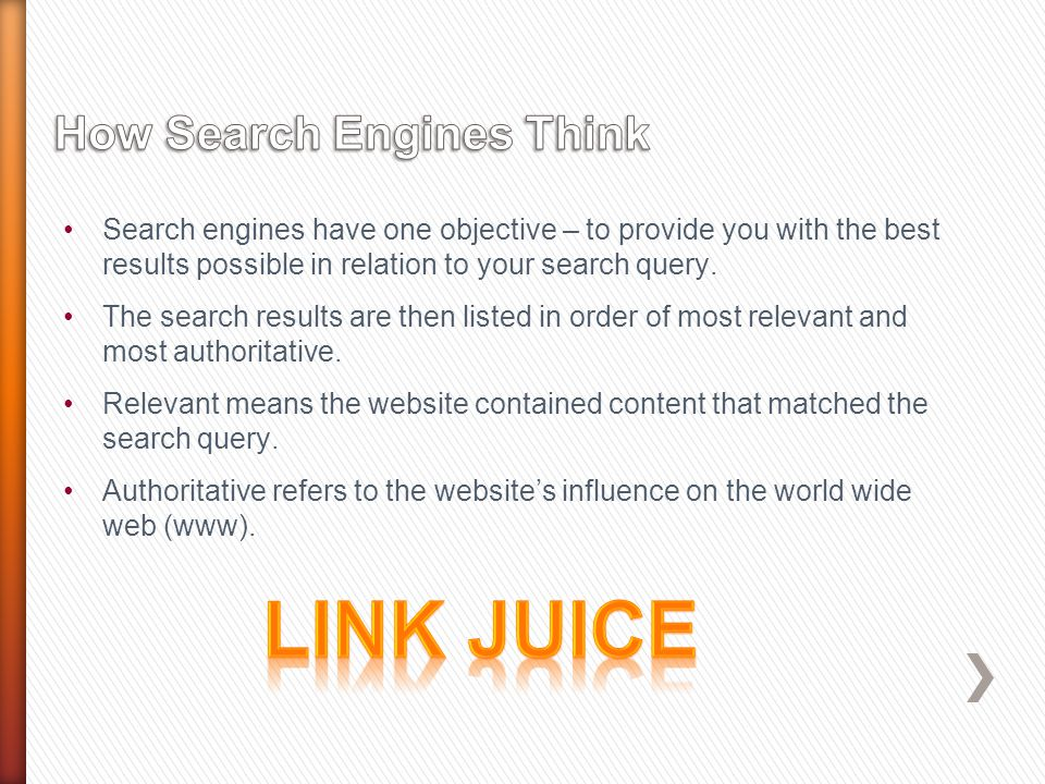 Search engines have one objective – to provide you with the best results possible in relation to your search query.