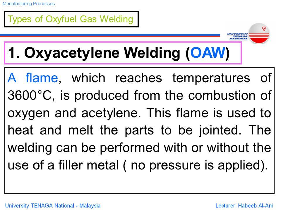 Types of Oxyfuel Gas Welding 1.