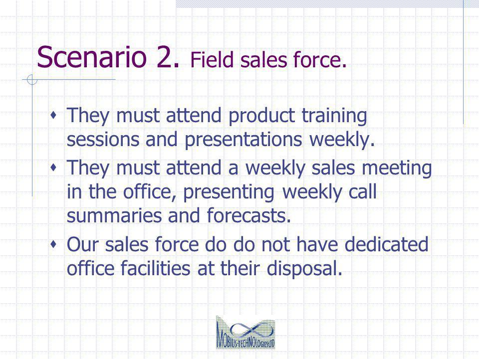 Scenario 2. Field sales force.