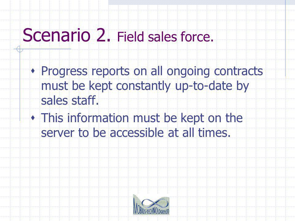 Scenario 2.Field sales force.