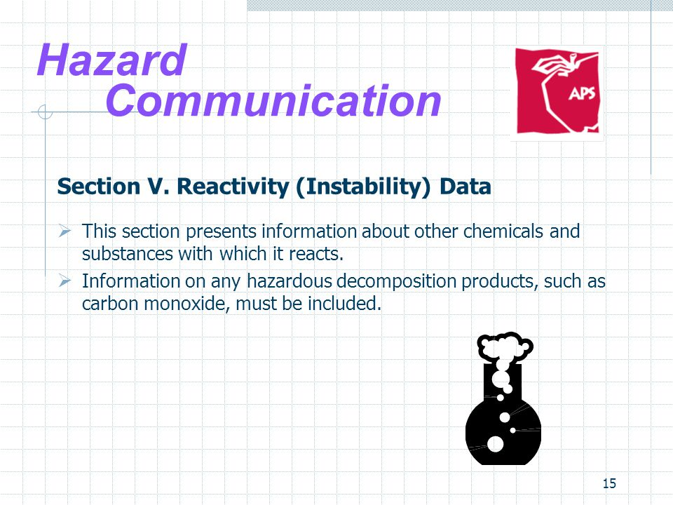 15 Hazard Communication Section V.