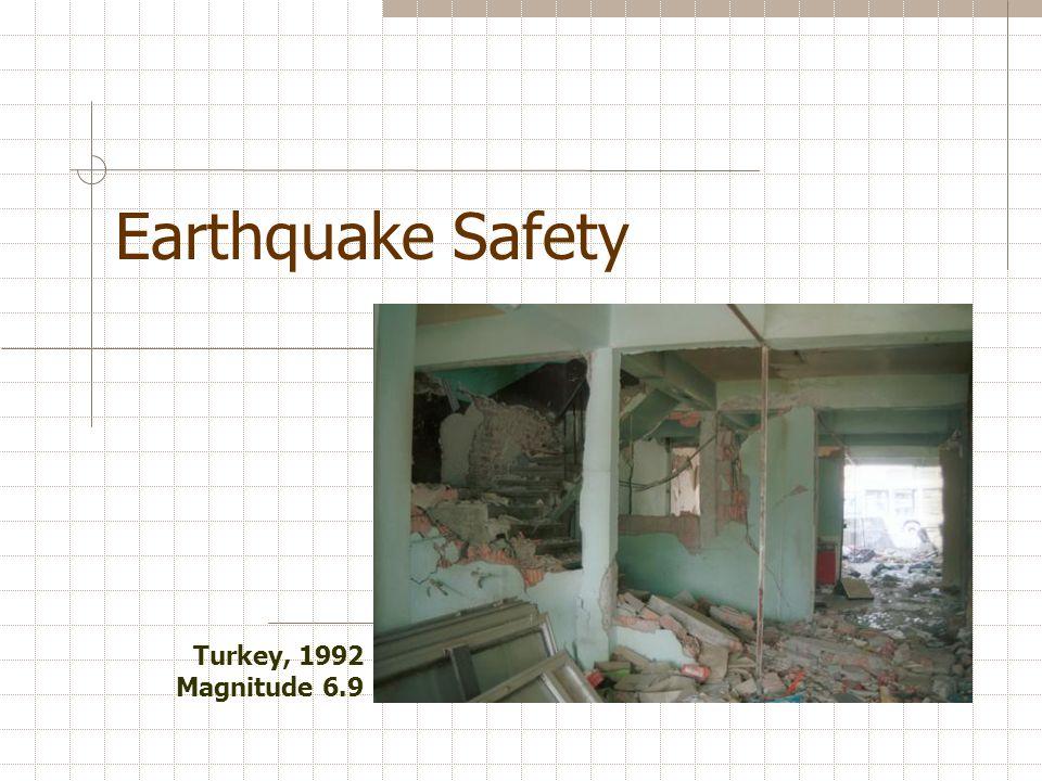 Earthquake Safety Turkey, 1992 Magnitude 6.9