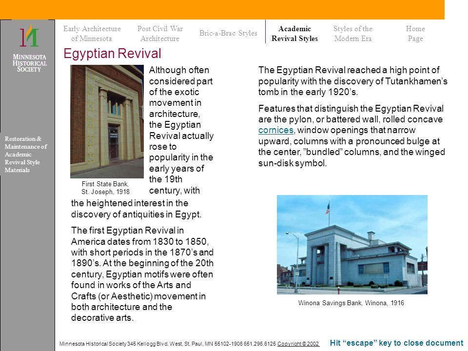 Minnesota Historical Society 345 Kellogg Blvd. West, St. Paul, MN 55102-1906 651.296.6125 Copyright © 2002 Hit escape key to close document Egyptian R