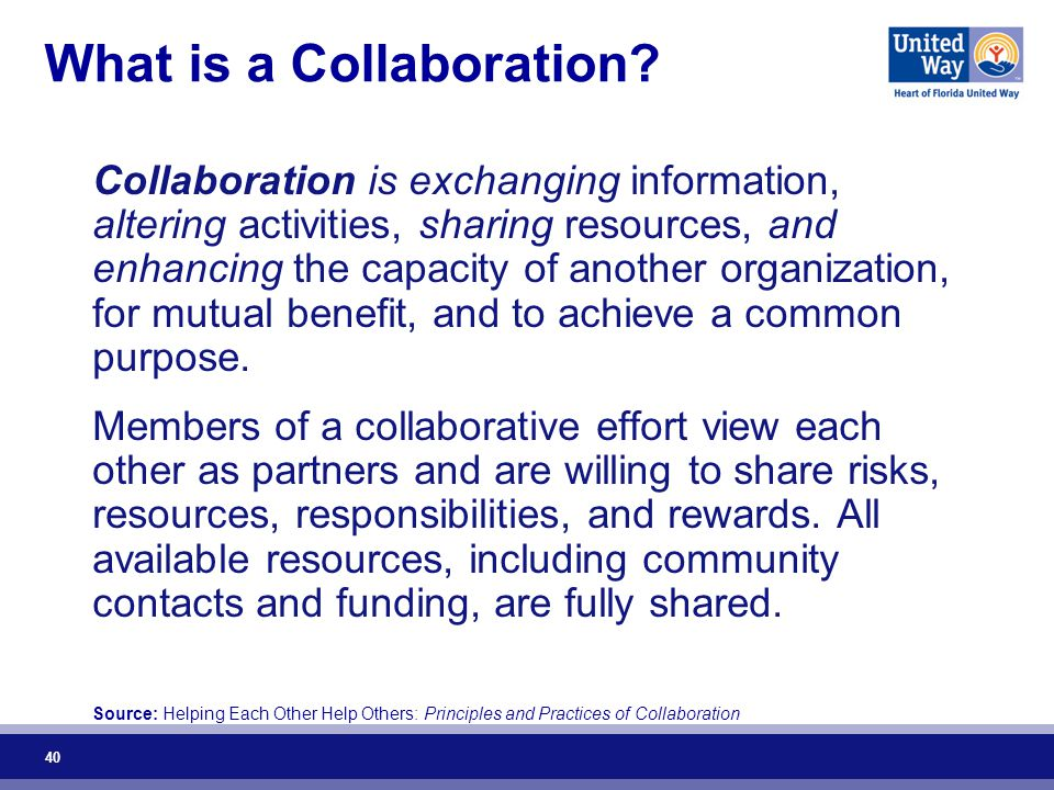40 What is a Collaboration.