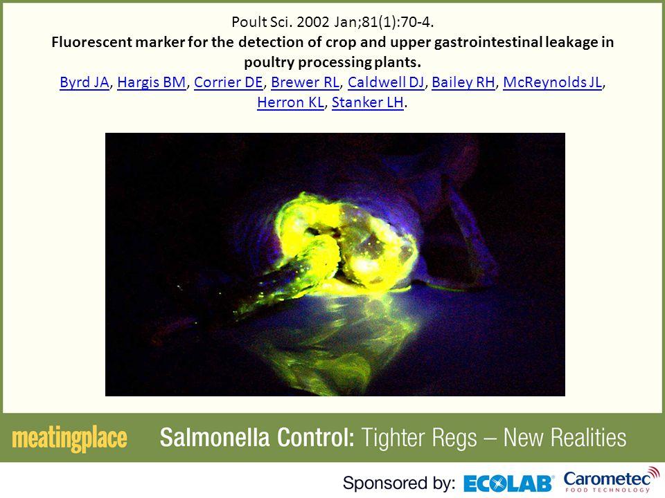 Poult Sci. 2002 Jan;81(1):70-4.