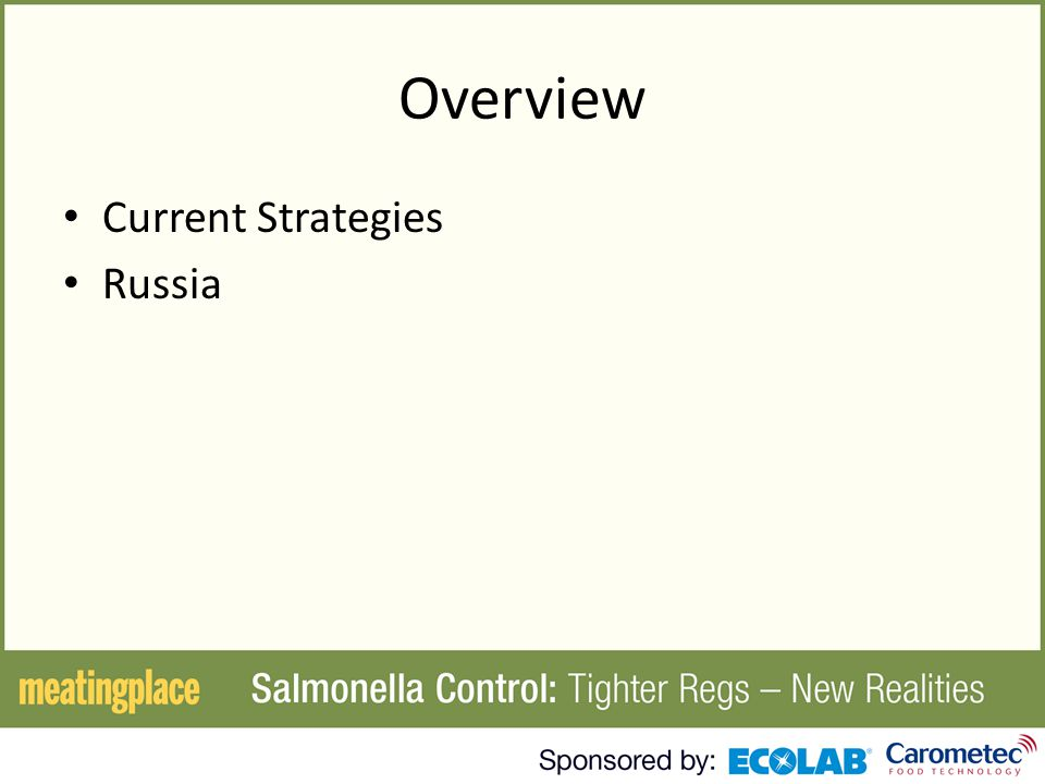 Overview Current Strategies Russia