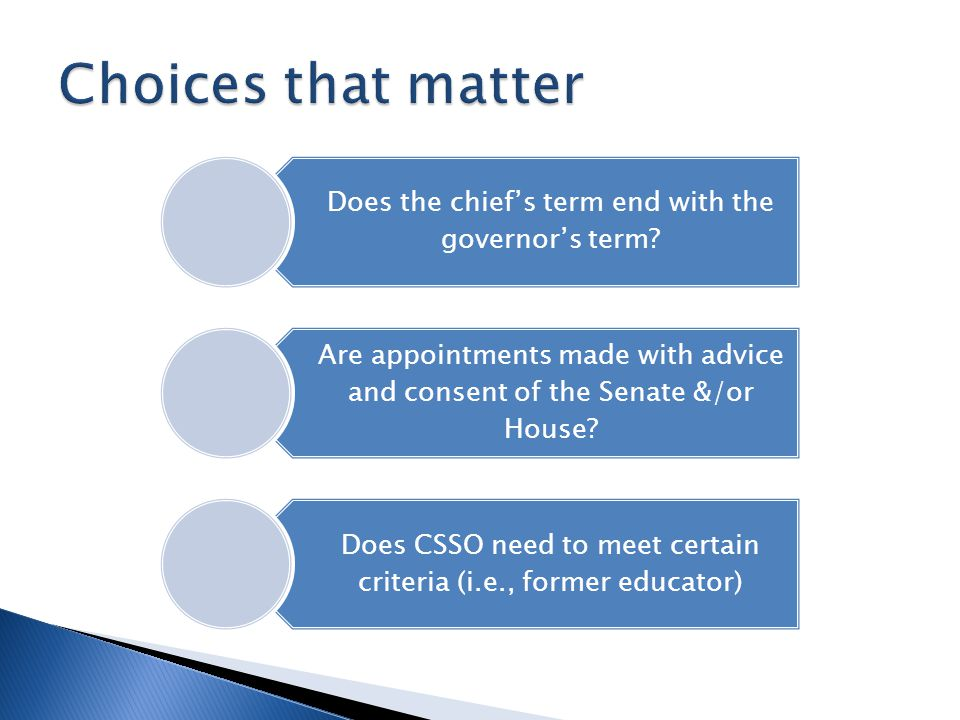 Does the chiefs term end with the governors term.