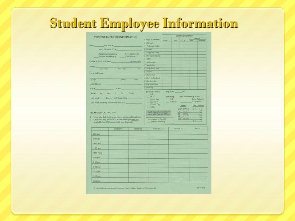 Student Employee Information