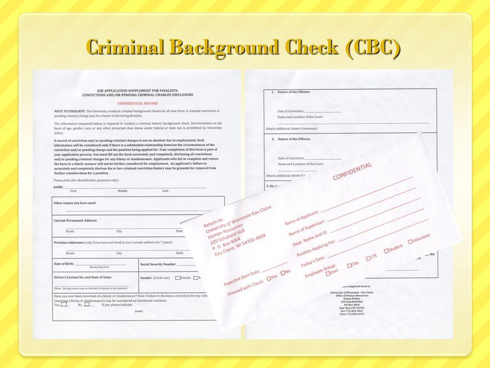 Criminal Background Check (CBC)