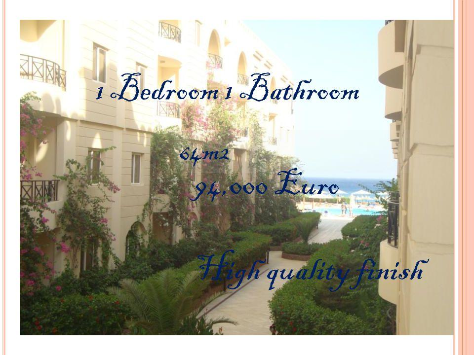 1 Bedroom 1 Bathroom 64m2 94,000 Euro High quality finish
