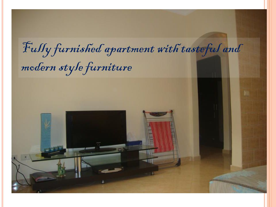 Fully furnished apartment with tasteful and modern style furniture