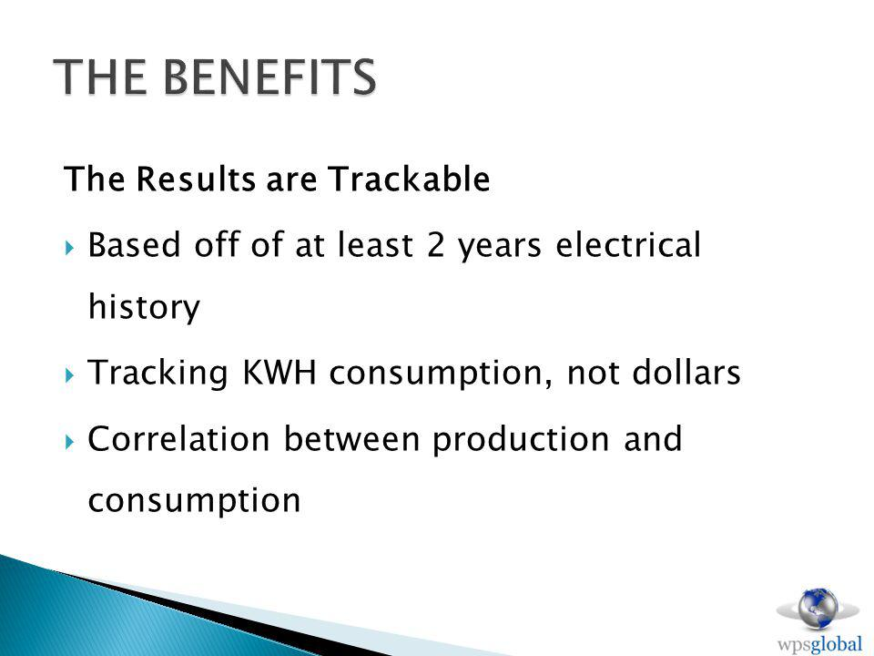 The Results are Trackable Based off of at least 2 years electrical history Tracking KWH consumption, not dollars Correlation between production and consumption