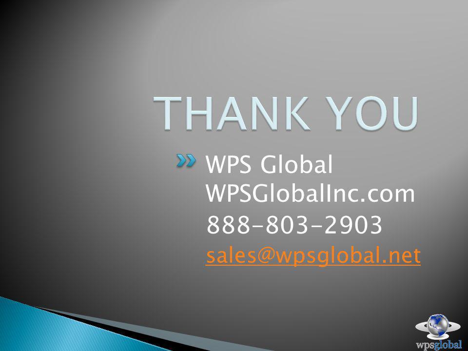 WPS Global WPSGlobalInc.com 888-803-2903 sales@wpsglobal.net