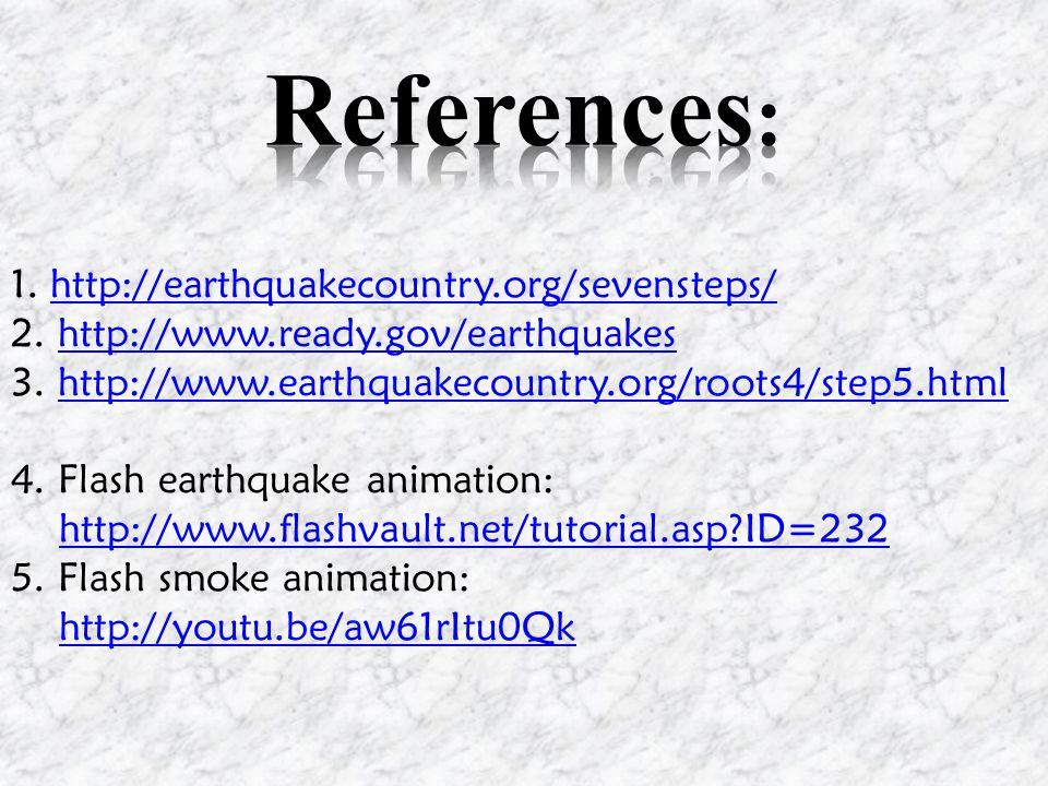 1. http://earthquakecountry.org/sevensteps/http://earthquakecountry.org/sevensteps/ 2.