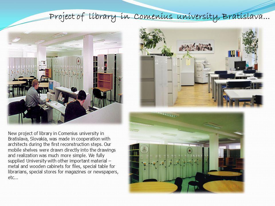 Project of library in Comenius university, Bratislava... New project of library in Comenius university in Bratislava, Slovakia, was made in cooperatio