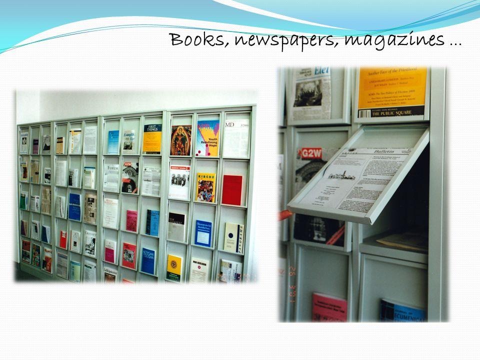 Books, newspapers, magazines...