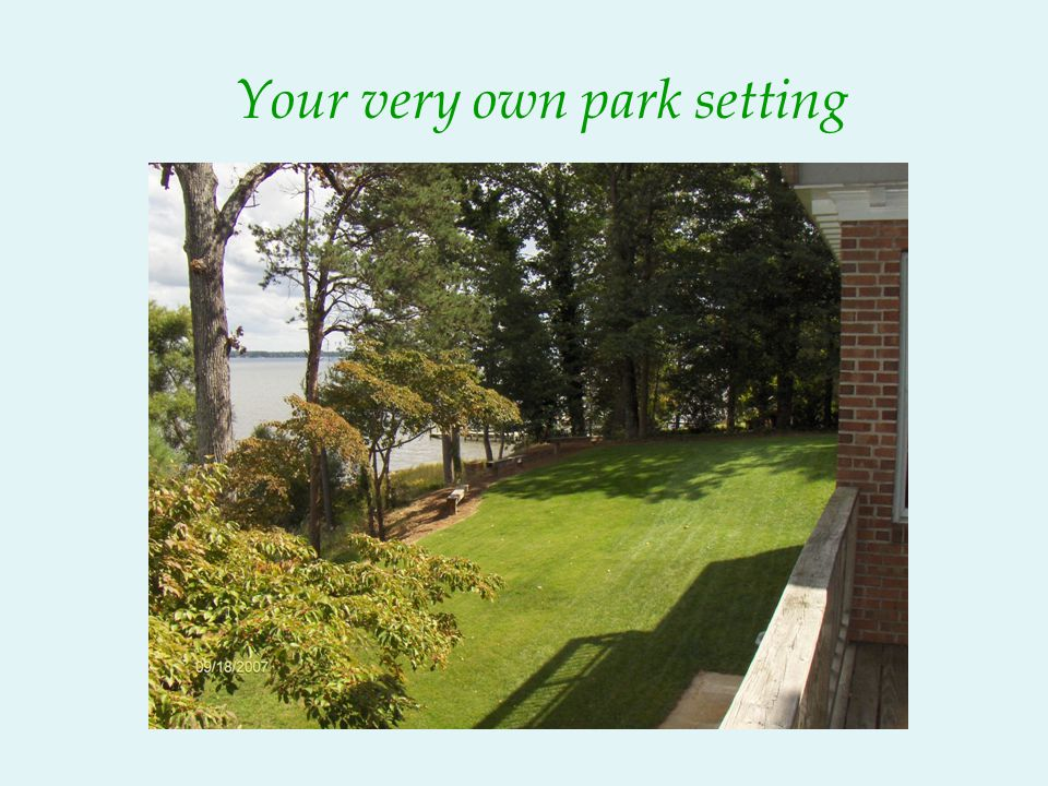 Your very own park setting