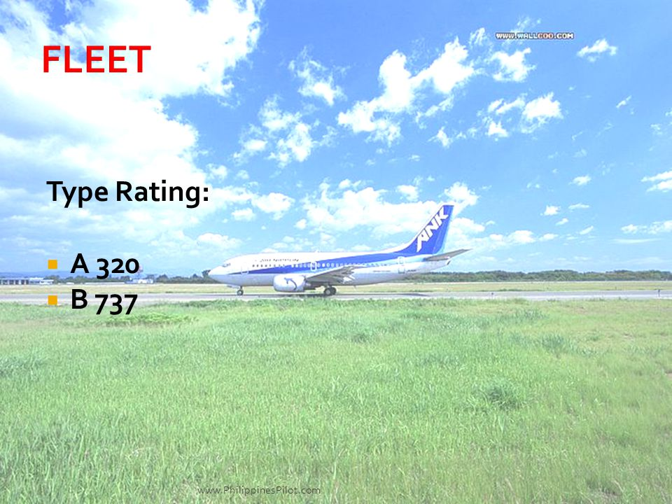 Type Rating: A 320 B 737 www.PhilippinesPilot.com