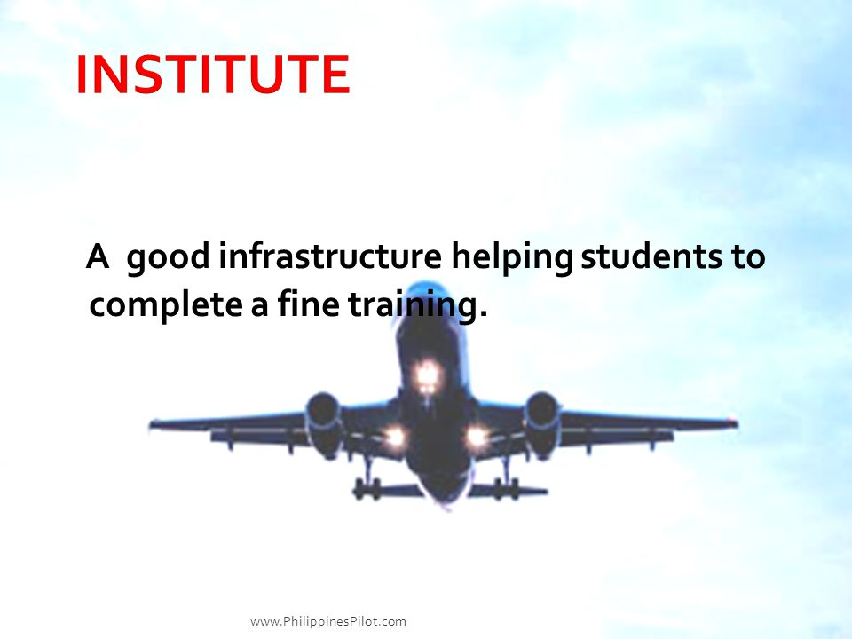 A good infrastructure helping students to complete a fine training. www.PhilippinesPilot.com