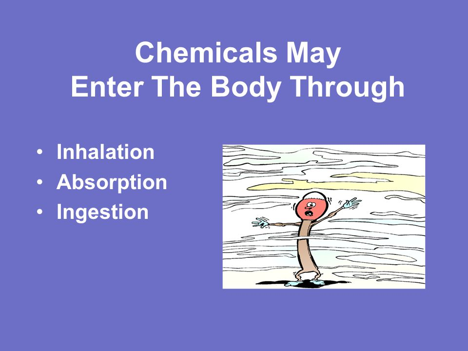 Chemicals May Enter The Body Through Inhalation Absorption Ingestion