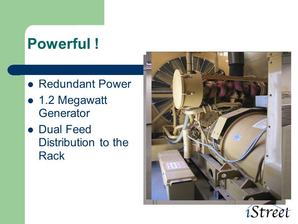 Powerful ! Redundant Power 1.2 Megawatt Generator Dual Feed Distribution to the Rack