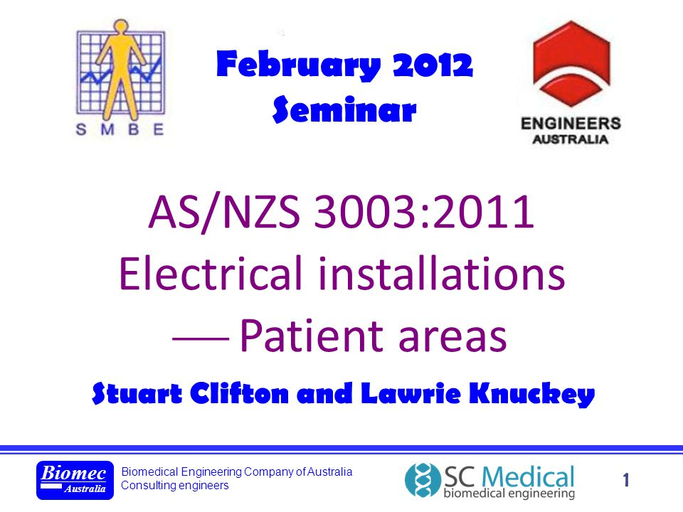 Biomedical Engineering Company of Australia Consulting engineers Biomec Australia 22 Patient areas 2003Locations in hospitals and medical and dental practices in which it is intended that mains powered medical electrical equipment will be used.