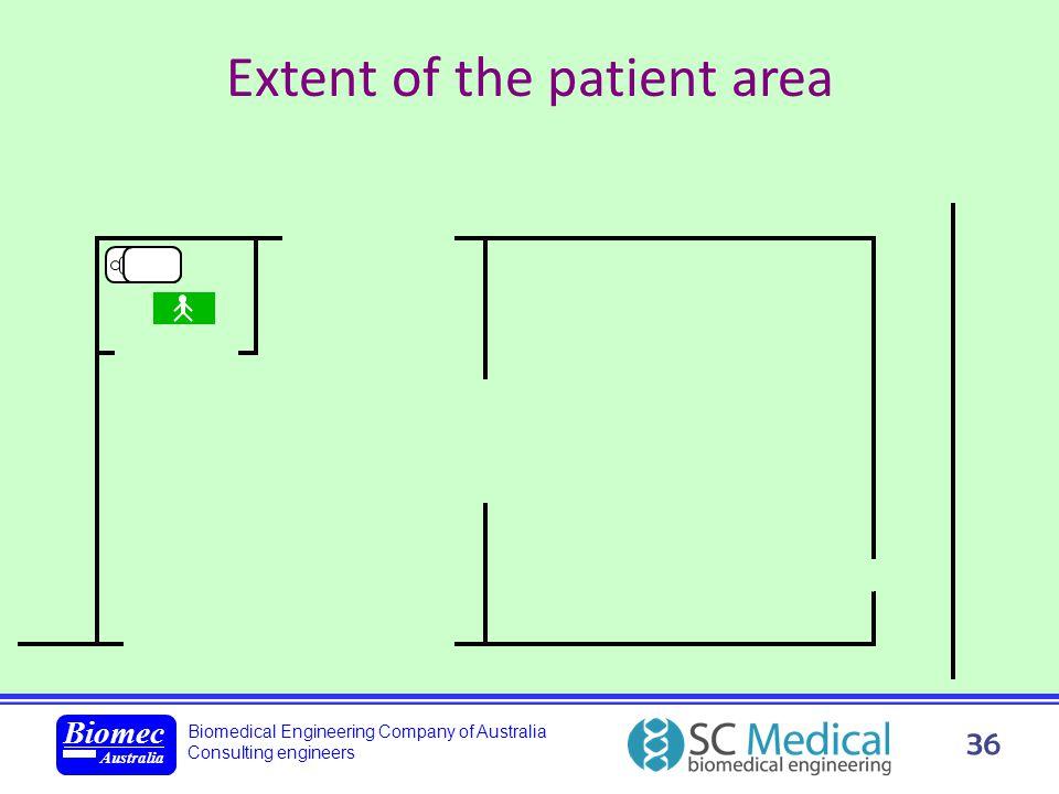 Biomedical Engineering Company of Australia Consulting engineers Biomec Australia 36 Extent of the patient area