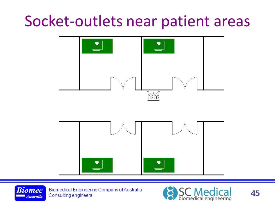Biomedical Engineering Company of Australia Consulting engineers Biomec Australia 45 Socket-outlets near patient areas xxxxxxxxxxxx xxxxxxxxxxxx xxxxx