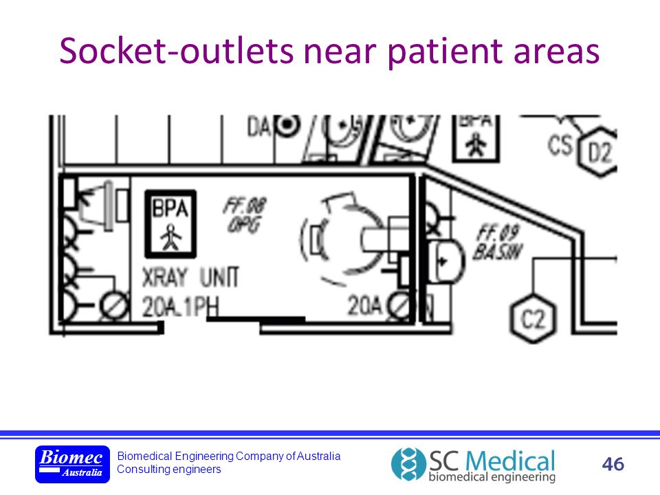 Biomedical Engineering Company of Australia Consulting engineers Biomec Australia 46 Socket-outlets near patient areas