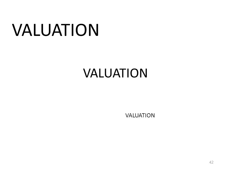 VALUATION 42