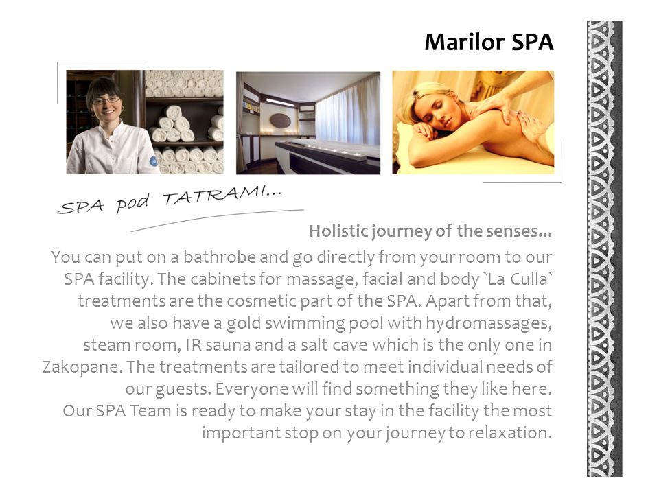 Marilor SPA Holistic journey of the senses...